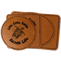 Sea Turtles Faux Leather Iron On Patch