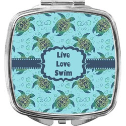 Sea Turtles Compact Makeup Mirror (Personalized)