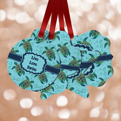 Sea Turtles Metal Ornaments - Double Sided
