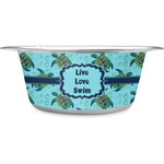 Sea Turtles Stainless Steel Dog Bowl (Personalized)