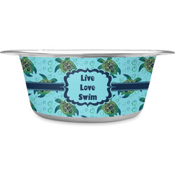 Sea Turtles Stainless Steel Pet Bowl (Personalized)