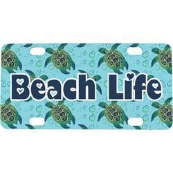 Sea Turtles Mini / Bicycle License Plate (4 Holes)