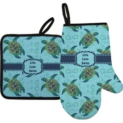 Sea Turtles Oven Mitt & Pot Holder Set