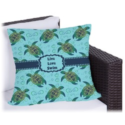Sea Turtles Outdoor Pillow (Personalized)