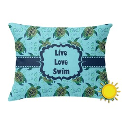 Sea Turtles Outdoor Throw Pillow (Rectangular) (Personalized)