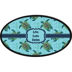 Sea Turtles Oval Trailer Hitch Cover (Personalized)