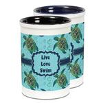 Sea Turtles Ceramic Pencil Holder - Large