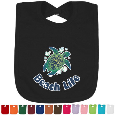 Sea Turtles Baby Bib - 14 Bib Colors (Personalized)
