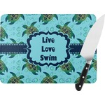 Sea Turtles Rectangular Glass Cutting Board (Personalized)
