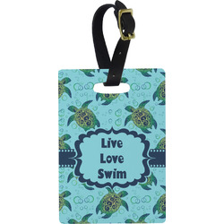 Sea Turtles Rectangular Luggage Tag (Personalized)