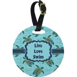 Sea Turtles Round Luggage Tag (Personalized)