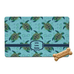 Sea Turtles Pet Bowl Mat (Personalized)