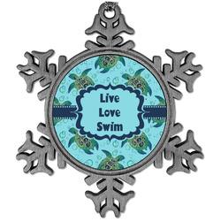 Sea Turtles Vintage Snowflake Ornament