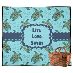 Sea Turtles Outdoor Picnic Blanket (Personalized)