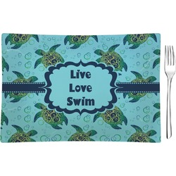 Sea Turtles Glass Rectangular Appetizer / Dessert Plate (Personalized)