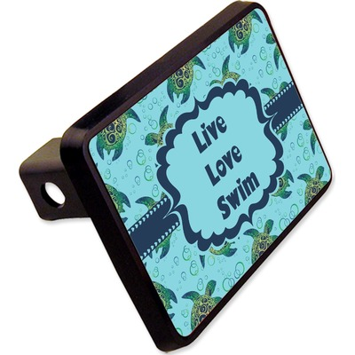 "Sea Turtles Rectangular Trailer Hitch Cover - 2"" (Personalized)"