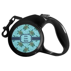 Sea Turtles Retractable Dog Leash - Multiple Sizes (Personalized)