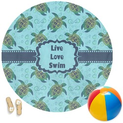 Sea Turtles Round Beach Towel (Personalized)