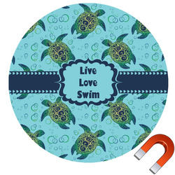 Sea Turtles Round Car Magnet (Personalized)