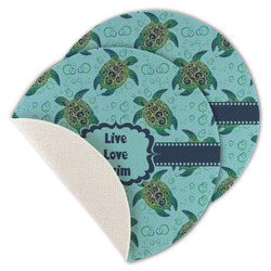 Sea Turtles Round Linen Placemat