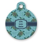 Sea Turtles Round Pet Tag (Personalized)