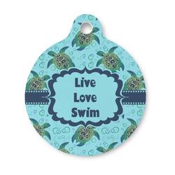 Sea Turtles Round Pet Tag (Personalized)
