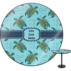 "Sea Turtles Round Table - 30"" (Personalized)"