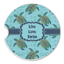 Sea Turtles Sandstone Car Coaster - Single (Personalized)