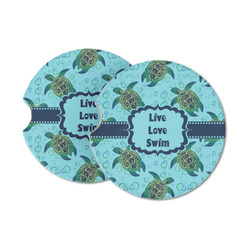 Sea Turtles Sandstone Car Coasters (Personalized)