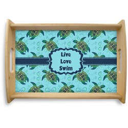 Sea Turtles Natural Wooden Tray (Personalized)
