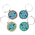 Sea Turtles Wine Charms (Set of 4) (Personalized)