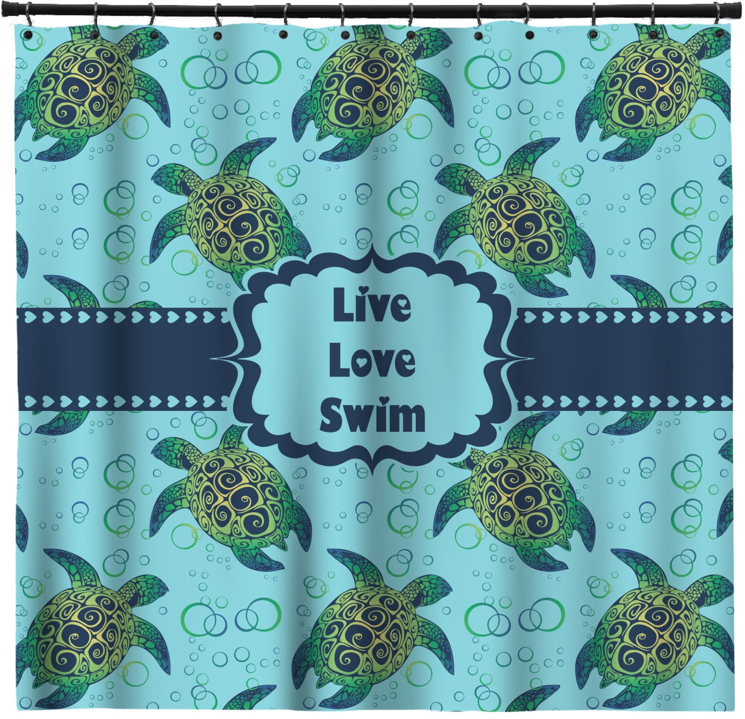 Sea Turtles Shower Curtain Personalized