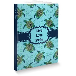 """Sea Turtles Softbound Notebook - 5.75"""" x 8"""" (Personalized)"""