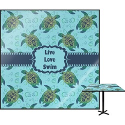Sea Turtles Square Table Top (Personalized)