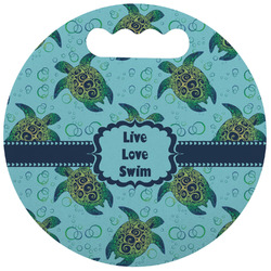 Sea Turtles Stadium Cushion (Round) (Personalized)