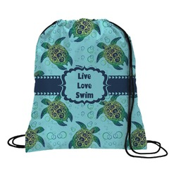 Sea Turtles Drawstring Backpack (Personalized)