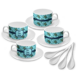 Sea Turtles Tea Cup - Set of 4 (Personalized)
