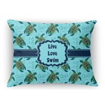 Sea Turtles Rectangular Throw Pillow Case (Personalized)