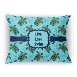 Sea Turtles Rectangular Throw Pillow Case (Personalized)