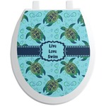 Sea Turtles Toilet Seat Decal (Personalized)
