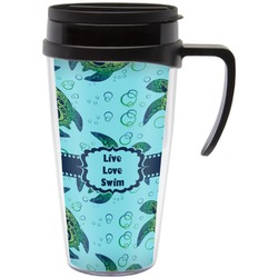 Sea Turtles Travel Mug with Handle (Personalized)