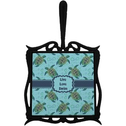 Sea Turtles Trivet with Handle (Personalized)