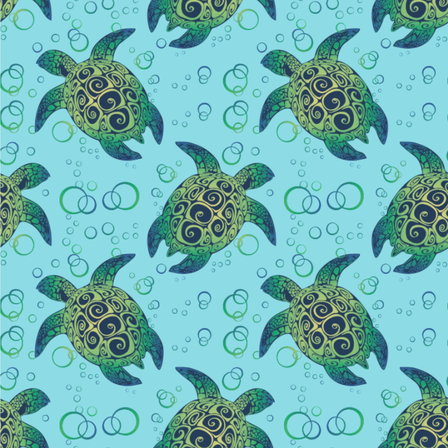 "Sea Turtles Wallpaper & Surface Covering (Water Activated 24""x 24"" ..."