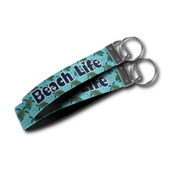 Sea Turtles Wristlet Webbing Keychain Fob (Personalized)