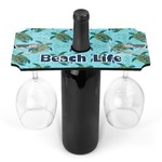 Sea Turtles Wine Bottle & Glass Holder (Personalized)