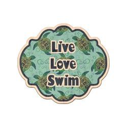 Sea Turtles Genuine Wood Sticker (Personalized)