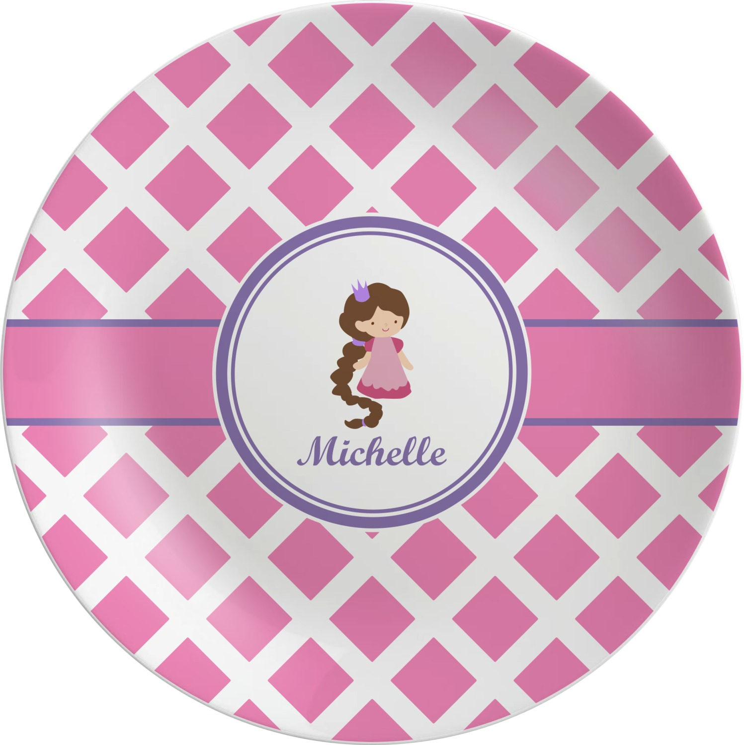 Diamond Print w/Princess Melamine Plate (Personalized)  sc 1 st  YouCustomizeIt & Diamond Print w/Princess Melamine Plate (Personalized) - YouCustomizeIt