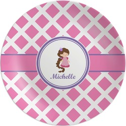 Diamond Print w/Princess Melamine Plate (Personalized)