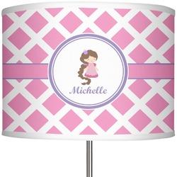 """Diamond Print w/Princess 13"""" Drum Lamp Shade (Personalized)"""
