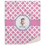Diamond Print w/Princess Sherpa Throw Blanket (Personalized)